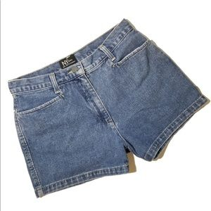 NY&CO High Waist Blue Jean Shorts 4 28